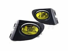 For 03-05 Honda Civic SI 3Dr Yellow Fog Lights Clear PAIR - Wiring Kit Included