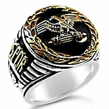 Roman Tribune Eagle mens signet ring    Sterling Silver