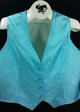 Reed Hill Saddleseat Vest Ladies Light Blue Cube design Shimmer 8 - Made in USA