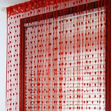 Love Drop Beaded String Divider Blind Fly Screen Tassel Door Room Window Curtain