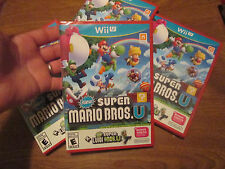 New Super Mario Bros. U + New Super Luigi U Nintendo Wii U NEW FACTORY SEALED
