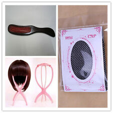Free shipping a Wig Stand+a wig cap+ a Hair Brush Comb Wig Care SET Accessories