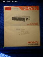 Sony Service Manual ICF C570L 3 Band Digital Clock Radio (#3211)