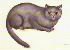 Grußkarte: Malerei von Leonor Fini: Katze Sarah