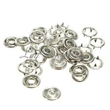 10Set Metal Shirt Sew Snap Fasteners Press-Studs Poppers Nickel Free Approx9.5mm