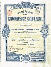 Belgium Colonial Commerce stock certificate 1898