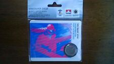 2010 OLYMPIC WINTER GAMES COIN SPORTS CARD