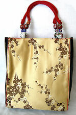 FRANCHI Asian Brocade Satin Handbag Purse