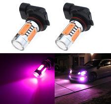 2X 7.5W H10 9145 High Power LED Pink Driving Daytime Running Fog Light Bulbs KL