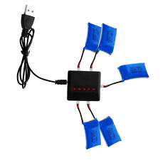 5pcs 600mAh Lipo Batteries+5 in 1 3.7V USB Charger for Syma X9 RC Quadcopter New