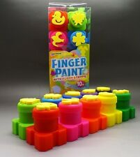 "10 Piece ""FINGER PAINTS WITH FUN STAMPS"" Great for School Holidays ~ Brand New"