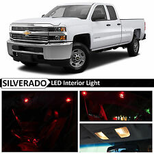 14x Red Interior LED Light Package Kit for 2007-2013 Chevy Silverado + TOOL