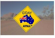 Australian Style Road Sign Australia Road Sign Novelty Fun G'day outback Sign