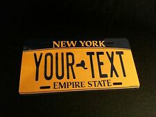 CUSTOMIZE THIS NEW YORK LICENSE PLATE - ANY TEXT YOU WANT, novelty AUTO plate