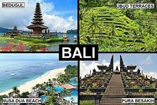 SOUVENIR FRIDGE MAGNET of BALI INDONESIA