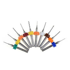 10Pcs PCB Print Circuit Board Carbide Micro Drill Bits Tool 0.3mm to 1.2 mm TMPG