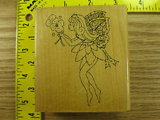 Rubber Stamp Cute Flower Fairy by JRL Stampinsisters #1672