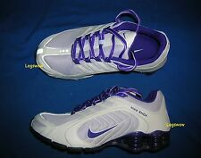 Nike Shox Navina Running Shoes Sneakers Womens 6 White Purple Grey Trainers Gym