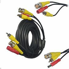10M Metre BNC CCTV Camera Audio Video Cable Mic Power 12v Connectors Lead UK