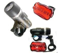 LED Bike Bicycle Front Head Light headlight lamp+ rear tail flashlight torch TL