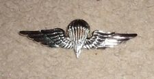 EGYPT PARACHUTE BADGE,GOLD,LOOKS SILVER,MADE FOR U.S. RECIPIENTS CLUTCH BACK