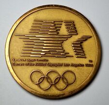 "RARE JOSTENS 1984 OLYMPIC XXIII COMMEMORATIVE BRONZE MEDAL, 2 1/2 "", LOS ANGELES"