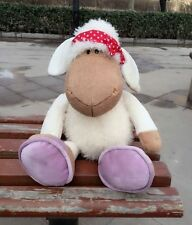 lovely red bowknot scarf white sheep stuffed animals soft toys baby dolls 25 CM