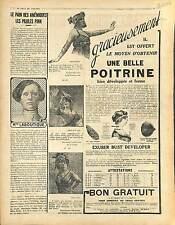 Réclame Pub Exuber Bust Developer/Pilule Pink/Phoscao/Chamonix/ Bicalor 1916 WWI