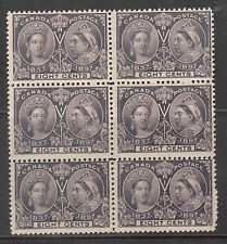 Canada #56 NH Mint Block Of Six With Slight Gum Disturbance On Three Stamps