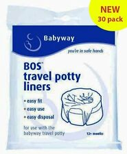 New Babyway Travel Potty Liners 3 Pack!! **30 LINERS**