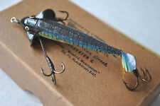 A SUPER CONDITION EARLY SILK PHANTOM LURE IN EARLY JEWELLERS CARD BOX