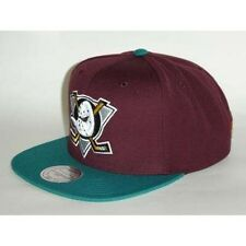 100% Authentic NWT, Maroon Teal Mighty Ducks Mitchell & Ness SnapBack Throwback