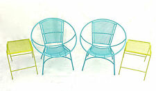 Mid Century Modern Hoop Chairs w/ Tables