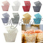 New 12X Filigree Vine Cake Wrappers Wraps Cases Wedding Birthday Baby Shower J