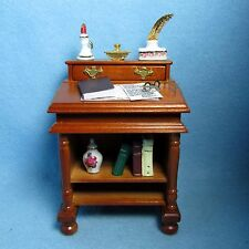 Dollhouse Miniature Reutter Furniture Writing Desk with Accessories 1.7380