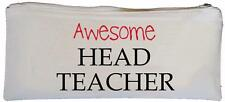 Awesome Head Teacher - Canvas Pencil Case - SUPPLIED EMPTY School gift