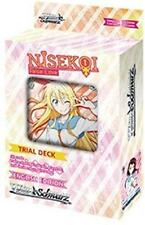 Weiss Schwarz Nisekoi Trial Deck False Love Ver. E. English Weib Starter Auto1:6