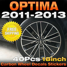 "Carbon Black Spoke Wheel Vinyl Decal Sticker 18"" 48Pcs for KIA 2011-13 Optima K5"