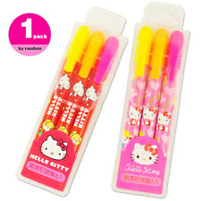 Hello Kitty Gel Highlighter Fluorescent Marker Crayon Bullet Marker Point 3/Pack