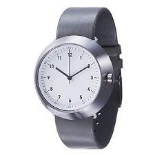 """Normal Timepieces """"Fuji"""" Acciaio Inox Quarzo Bianco Pelle Grigio Orologio Uomo"""