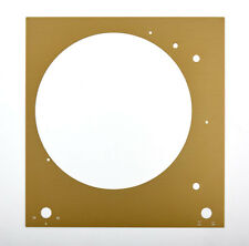 Thorens Deckplatte Platte face plate TD 150 gold glänzend eloxiert