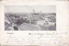 uralte AK, Gruss aus Freystadt in Schlesien, Totalansicht, 1908