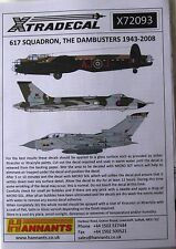 Xtradecal 1/72 X72093 No 617 Sqd RAF 'The Dambusters' 1943-2008 decal set