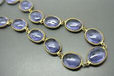 Vintage 50s french purple Gripoix Poured glass necklace