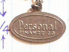PENDANT PERSONAL FINANCE COMPANY OVAL BARS RECTANGLE & LEAVES DESIGN ANTIQUE VIN