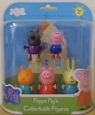 Peppa Pig Collectable figuras 5 Pack ~ Danny Dog, George, caramelo, Peppa & Rebecca