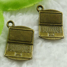 Free Ship 160 pieces bronze plated computer charms 21x13mm #1882