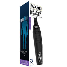 Wahl Rinse Clean Battery Operated Nasal Nose Ear Eyebrow Hair Trimmer 5560-1102