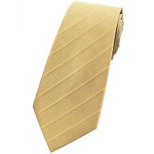 Cravate pour Homme Luxe de Marque Française SOIE Jaune Paille - Tie Tan Cravatte