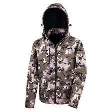 Result Camo Camouflage Hooded Waterproof Soft Shell Jacket with Inner Fleece